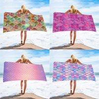 Mermaid Beach Towel wearable changeable bath towels seaside take a holiday kerchief superfine fiber sandbeach skirt 803 B3