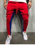 2018 Autumn New Men's High Street Sweatpants Trousers Male Side Stripe Hip Hop Sweatpants Jogger Pants Streetwear M-3XL D18101102