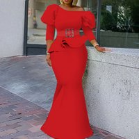 2021 Plus Size Arabic Aso Ebi Mermaid Sexy Two Pieces Prom Dresses Long Sleeves Crystals Evening Formal Party Second Reception Bridesmaid Gowns Dress ZJ255