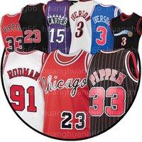 23 Michael Basketball Jersey Männer Scottie 33 Pippen Mesh Retro Dennis 91 Rodman Jugend Kinder beige