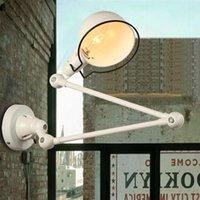مصابيح الحائط RH LOFT E14 LED مصباح الذراع الميكانيكية فرنسا Jielde Reminisced قابل للسحب مزدوج خمر، قضبان خفيفة قابلة للطي
