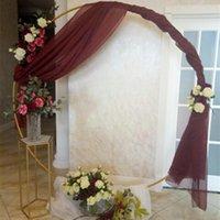 Party Decoration Circle Wedding Arch Background Wrought Iron Shelf Decorative Props DIY Round Frame Backdrop