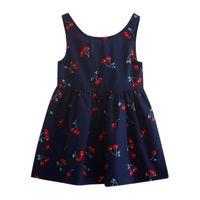 Girl's Dresses Summer Baby Dress Toddler Girls Fashion Flower Print Princess Kids Party Casual Wedding Sleeveless