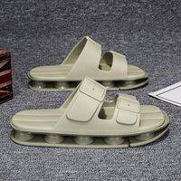 High end all air cushion mens slippers Summer wear fashion soft bottom antiskid flip flops Ins outdoor Harajuku leisure time 51ih#