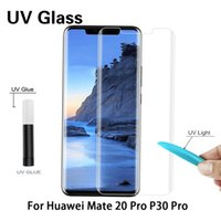 UV Tempered Glass Nano Liquid Screen Protector For Huawei P30 P40 P50 Mate 20 30 40 Pro Full Glue Curved Protection Protective Film