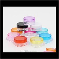 Packing Bottles 2000Pcs Lot 3G Square Jars Clear Plastic Makeup Sub-Bottling,Empty Cosmetic Container,Small Sample Mask Canister Rxqck Clu4G