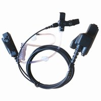FBI estilo encoberto tube acústico fone de ouvido fone de ouvido ptt mic mix para motorola walkie talkie 2-way rádio MT1500 MT2000 MTS2000 HT1000 GP900 pr 1500