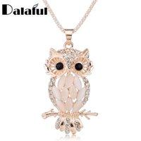 Yutong con estilo Gallant Sparkling Owl Crystal Collares con Encanto Collares Colgantes Colgantes para Mujeres M099