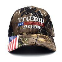 대통령 US 일반 선거 Snapbacks 트럼프 2024 위장 야구 모자 자수 인쇄 모자 여름 6 4AX T2