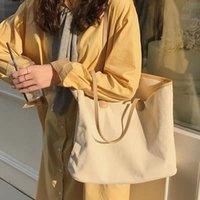 Evening Bags Women Canvas Tote Bag Fashion Cotton Cloth Reusable Shopping Casual Lady Shoulder Handbags Large Capacity Beach Sac A Main