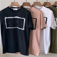 CptopSToney 2021 Sommer Hohe Qualität Baumwolle Herren T-Shirt Gedruckt Brief Korrektur Rundhalsausschnitt Kurzarm Für Liebhaber Lässige Mode Bottomed Shirt