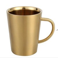 newest insulated metal coffee mug 12oz copper beer cup stainless steel wine tumbler with handle 350ml NHF10498
