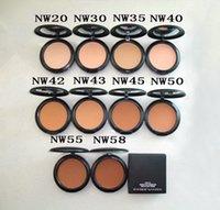 Makeup NW gepresstes Pulver 10 Farbe Kompakte Natürliche Whitening-Firma Heller Contour Face Pulver Foundation