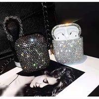 Luxurys Fashion Designers AirPods Case для наушников Pro 1 2 Высочайшее качество корпус кожи кожаные Одни защитные пакеты Крючки сумки 2 цветов хорошие