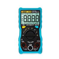 Multimeters Aneng v02b multimeter multimeter ncv الرقمية lcd ac / dc voltmeter السيارات المدى ديود مقاومة تستر اختبار السعة