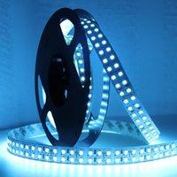Strips DC 12V 5M LED-band Dubbelrängd SMD 3528 240leds / m Flexibelt band Ljusljus för dekor Vit / varm vit / isblå Valfri Jq
