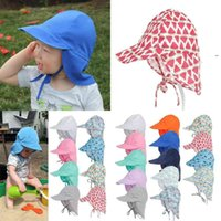 Kids Summer Legionnaire Baseball Cap Boonie Snap Hats Quick Dry Wide Brim Visor Sun Hat with Neck Protection Cover Flap Caps OWA6787