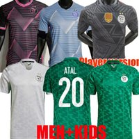 Fans Jogador Versão 2021 Argélia Jerseys de Futebol Mahrez Argélia 21 22 Algerie África Cup Atal Feghouli Slimani Homens Kit Kit Goleiro Camisa de Futebol Maillot de pé