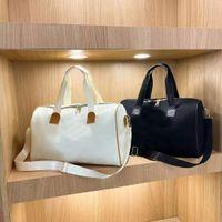 45 سنتيمتر النساء الرجال حقائب أزياء السفر واق حقيبة جلد حقائب جلدية حقائب كبيرة التباين سعة لون رياضة حمل حقيبة