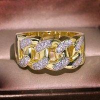 Luxury 18K Yellow Gold Jewelry Ring for Women Fine Anillos De Wedding Bizuteria Anillos Mujer Jewelry Anel Bijoux Femme 18 K Gold Rings