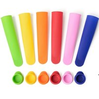 6 colors Silicone Ice Pop Mold Popsicles Mould with Lid DIY Ice Cream Makers Push Up Ice Cream Jelly Lolly Pop HHA9112