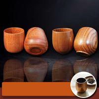 Giappone in legno tazza di tè in legno naturale durevole bicchieri di vino di legno delicati tazze da caffè con succo di birra tazze di latte