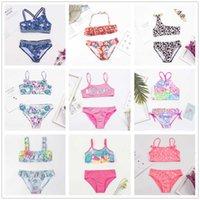 23 Styles Cheap Girls Bathing Suit Children Print Bandage Bikini 2021 Wholesale Brand Baby Girl Biquini Swimming Pack