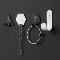 Hooks & Rails 4Pcs Nordic Style Coats Hats Towels Keys Holder Cloth Hanger Stainless Steel Multifunction Wall Mounted Home Decorative