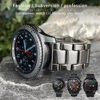 Ceramic 20mm 22mm Watch Strap For Samsung Gear Galaxy S3 S2 Huawei GT 2 Honor Magic 42mm 46 Glossy Watchband Black Bracelets Bands