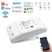 Smart Home Control House Wifi Wireless Remote Switch Breaker Domotic LED Light Controller Module Alexa Google Smartlife Tuya APP