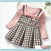 Baby, Maternity & Clothing Dresses Winter Toddler Baby Kids Girls Ruched Plaid Patchwork Strap Princess Dress Clothes Vetement Fille1 Drop D