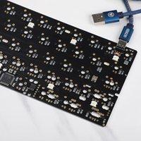 DFAFER SOLUTH GH60 PCB مجلس لوحة مفاتيح الألعاب الميكانيكية DIY مصغرة USB Type-C لوحة ملونة مع لوحات المفاتيح الخفيفة RGB