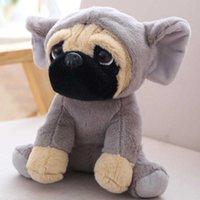 20см Sharpei повернул шляпу симуляционный колокол мопс фаршированный хлопок мягкая собака кукла плюшевая игрушка ребенок подарок