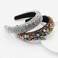 Hair Clips & Barrettes Full Crystal Headband Color Rhinestones Baroque Hoop Elegant Women Bands Hairbands Girls Headdress Accessories