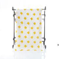 Baby Musslin Bath Towel Toalha Infantil Coberturas 2 Camadas 100% Toalhas de Algodão Neonatal Criança Animal Impresso Absorver Blanket Swaddle DHB7128