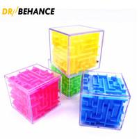 Big 8cm 3D Cube Puzzle Maze Juguete Mano Juego Caja Caja Caja Fun Brain Games Challenge Fidget Toys Balance Educational Toyes para niños