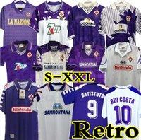 1998 레트로 축구 유니폼 Edmundo Batistuta Rui Costa Football Shirt Camisas De Futebol 89 90 91 92 93 94 95 96 97 98 99 00 Fiorentina