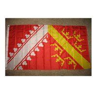 Alsazia Francia Provincia Francese Bandiera 3x5 Personalizzato Cortile Sign Farm Party Attività Interni Decorazioni per esterni Banner 3 x 5 ft