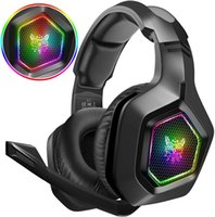 Headphones K10 Stereo Bass Surround Earphone witn RGB Light Gaming Headset for PS4 Xbox One PC with Microphone