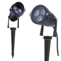 Lámparas de césped 3W 9W Paisaje de espiga impermeable LED 110 220V DC12V Spot IP65 al aire libre para jardín