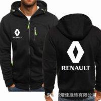 Top Quality Renault para Homens Zipper Hoodie Roupas Fleece Riding Jackets Moletons Casaco Com capuzete Homens Hoodies Harajuku BnbH0