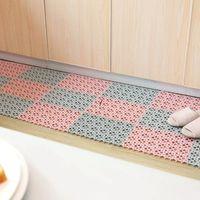Cocina de plástico Mat de cocina antideslizante Balcón Baño Color Sólido Alfombras Feliz Pasillo de Pasillo Baño Splicación Mat alfombra NHE6713