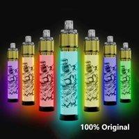 new style Disposable electronic cigarette ijoy lio bee lit vape 2500 Puffs e cigarettes Device Vapes transparent Pod 6ml colorful Flash light 100% Original