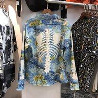 Traitement osseux à la mode Kapital Shirt Hommes Femmes Haute Qualité Lâche Beach Style Tees Shirts Longsleeve Homme Casual