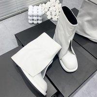 Mais recentes Botas das Mulheres do Designer Pure Couro Imitado Calças Perna Design Logo Logo35-41 Cópia Perfeita