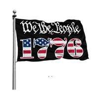 Wij de mensen Betsy Ross 1776 3x5ft vlaggen 100D Polyester Banners Indoor Outdoor Levendige Kleur Hoge Kwaliteit met twee Messing Grommets BWD9159