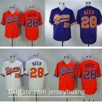 Männer Jugend Frauen genäht Clemson Baseball Jersey 28 Seth Bier Farbe Weiß Lila Orange Trikots Gute Qualität 09