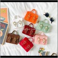 Asoresen Baby, Mutterschaft Drop Lieferung 2021 Bunte Gelee Schulter Geldbörse Kinder Mädchen Mode koreanische Handtasche Großhandel Candy Taschen für Kind