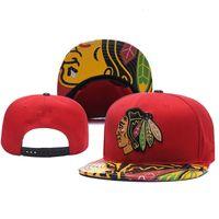 جديد قبعات شيكاغو blackhawks الهوكي snapback القبعات الأحمر أسود اللون كاب فريق القبعات مزيج مباراة ترتيب جميع قبعات أعلى جودة قبعة