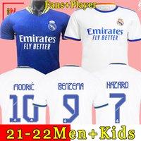 REAL MADRID jerseys Trikots 21 22 Fußballtrikot HAZARD BENZEMA VINICIUS Camiseta Fußballtrikot Uniformen Männer + Kinder Kit Sets 2021 2022